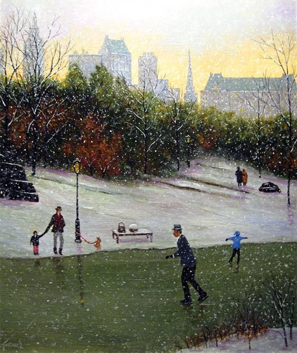 Skating in Central Park – circa 1920