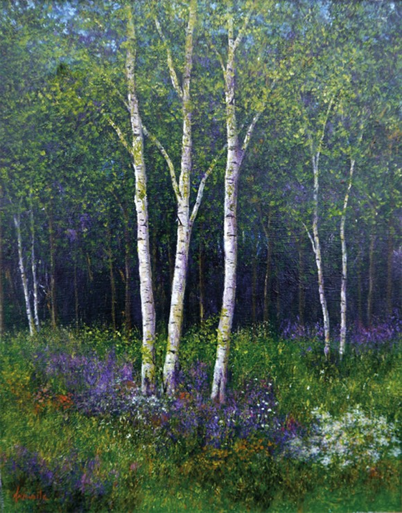 Spring Birches II